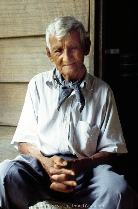 Don Pedro, an 87-year-old farmer in the rainforest near Fortuna, Costa Rica.