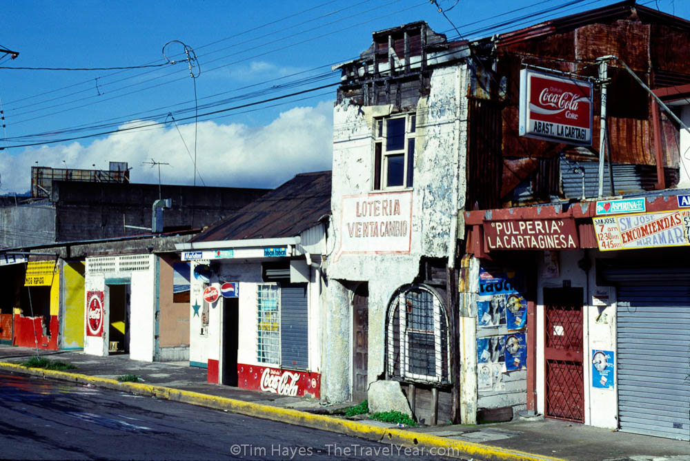 The colorful streets of San Jose, Costa Rica.