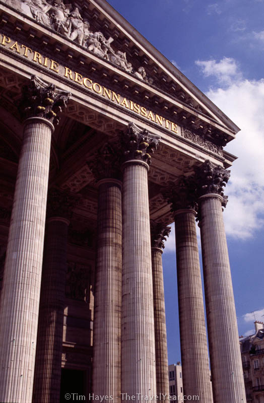The Pantheon of the Latin Quarter in Paris is the final resting place of Voltaire, Jean-Jacques Rousseau, and Victor Hugo.