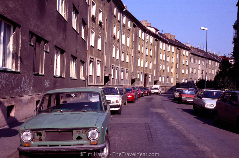 An ugly apartment block from Slovakia's Communist past.