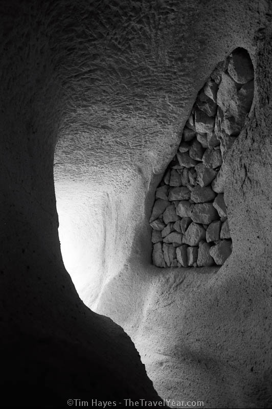 The exit of a cave home in Cappadocia's Rose Valley. The area is known for its cave dwellings and unusual rock formations made from tuff, a soft stone composed of volcanic ash.