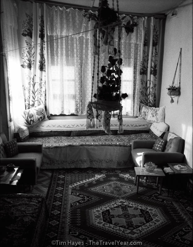 A sitting area inside a traditional Turkish home.